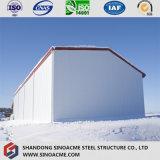 Magazzino prefabbricato della struttura d'acciaio dell'isolamento termico nelle regioni fredde