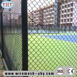 Plastikkettenlink-Zaun verwendet im Sportplatz