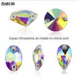 Nieuwst naai op het Kristal Ab Rivoli van de Steen van het Kristal naaien op het Bergkristal van het Glas (sW-Kristal ab)