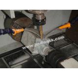 Маршрутизатор CNC китайской Meachine 4 оси Jd4040 роторный высекая