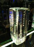 OEM van de Gravure van de Laser van de Kubus van het Kristal van de toren 3D Aangepast Embleem