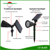 4 LEDs de iluminação exterior Spotlights alimentada a energia solar A energia verde Novo Estilo