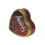 Corazón de estaño metálico EMBALAJE CAJA DE CHOCOLATE