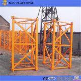 Кран башни нагрузки заграждения высокого качества 50m топлесс