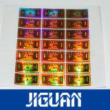 Collant anticontrefaçon respectueux de l'environnement fait sur commande adhésif intense d'hologramme