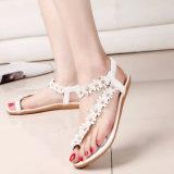 Bohemia de verano de Nueva Mujer sandalias zapatillas Zapatos para mujeres carpeta Flip Toe zapatos planos con flor