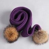 Мода женщин зимой трикотажные шаль с меховой Pompom оптовая торговля