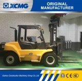 XCMG Diesel van 6 Ton Vorkheftruck met 3-stadium de Volledige Vrije Brede Mast van de Mening voor Verkoop