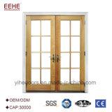 Puerta de aluminio de la entrada externa con diseño de cristal opcional