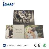 Brochure visuelle d'affichage à cristaux liquides de 5.0 pouces pour le cadeau de souvenir de mariage