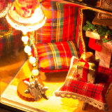 Stuk speelgoed van de Gift van Kerstmis DIY het Mini Houten