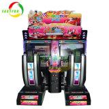 De hete Verkopende het Rennen van 32 van de Duim van het Scherm van de Arcade Jonge geitjes van de Auto Simulator Overtroffen Muntstuk In werking gestelde Machine van het Gokken