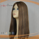 Cabello Castaño peluca Sheitel brasileño (PPG-L-0271)