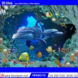 Azulejos esmaltados pared hermosa del fondo del arte 3D (VPA6A123)
