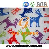 Bolsa de papel decorativa de tejido de la impresión para el embalaje de regalo