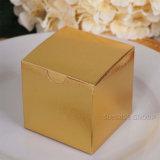 Rectángulos del favor de la boda de la torta con venta de los conjuntos de los favores del regalo del partido de la tapa de la imagen doble por la lámina