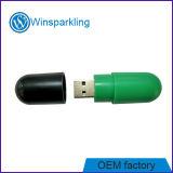 Memoria Flash del USB de la píldora con dos colores en la carrocería