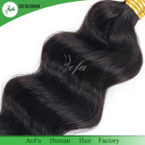 da cor natural brasileira da onda da classe 7A cabelo humano de Remy