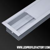 LED perfil de aluminio con tapas de cubierta de PC y grapas de fijación para la TIRA DE LEDS