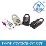Yh1628 croix suisse Symbole numéro de code de sécurité pour les bagages à fermeture à glissière pour cadenas