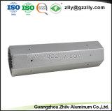 Profil en aluminium anodisé de dissipateur thermique pour l'éclairage commercial