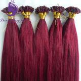 Melhor qualidade de pêlos Pre-Bonded I ponta a ponta em U V Dica queratina extensões de cabelo