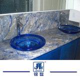 Azul 브라질 최고 호텔 훈장 부엌 또는 목욕탕 화강암 또는 석영을%s 파란 바이아 화강암 석판 싱크대 또는 허영 상단