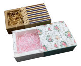 Jabón de empaquetado de la torta DIY de la hornada de la panadería del chocolate del caramelo de la boda del acontecimiento de la joyería del rectángulo de papel del regalo negro del cajón