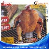 Girarrosto girante pratico del pollo del carbone di legna dell'acciaio inossidabile