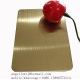 最上質の316 Hairline+Copperカラーステンレス鋼シート中国製