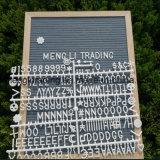 Изготовленный на заказ доска письма войлока деревянной рамки дюйма размера 10X10 с белыми письмами