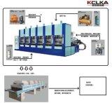 De dubbele Machine van de Vorm van de Injectie van EVA Sandals van de Kleur met Servo