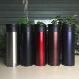 Breites Mund-doppel-wandiges Vakuum IsolierEdelstahl-Kaffeetasse mit Leck-Beweis-Kaffee-Schutzkappe
