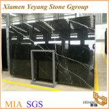China Nero Marquina laje de mármore, chão em mármore preto/Escada/Lado a Lado