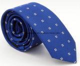 Cravate rayée bleue de polyester de qualité