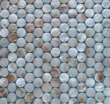Shell de agua dulce blanco mosaico de la Ronda de 20