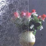 Vidrio modelado endurecido de la flora clara