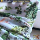 75D 100% poliéster Chiffon Fabric com impressão digital para vestido de mulher