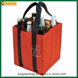 Le polyester de 9 bouteilles portent le sac pliable de bouteille de sac de vin de bouteille de Duable