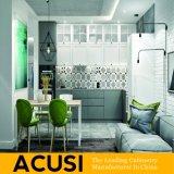 Gabinetes de cozinha modernos personalizados venda por atacado da laca da madeira compensada do estilo (ACS2-L04)