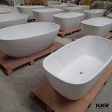 Bañera libre superficial sólida de piedra artificial modificada para requisitos particulares hotel al por mayor