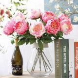 Fausse le commerce de gros de la tige des fleurs de pivoines Jeweled mariage pivoine artificielle Garland Arrangement de fleurs artificielles idée les fournisseurs