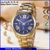 De Polshorloges van de Manier van het Horloge van het Kwarts van het Embleem van de douane voor de Dames van Mensen (wy-17005A)