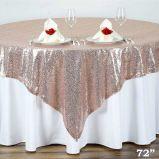Tablecloth de prata do Sequin do ouro para a tabela bonita do Sequin do casamento Overlay para a decoração Home