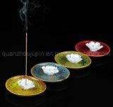 OEMの磁器の陶磁器の装飾的なクラフトの花の棒によって挿入される線香立て