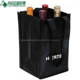 Fördernder preiswerter nicht gesponnener vier Flaschen-Wein-Beutel-Halter der Flaschen-4
