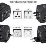 Поездки международного адаптер универсальный адаптер питания все-в-одном 4 во всем мире настенное зарядное устройство USB