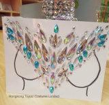 2018 мелочь Блестящие цветные лаки кожи глаз на наклейке клей акриловый Gem Crystal Diamond наклейки для защиты грудной клетки (E12)