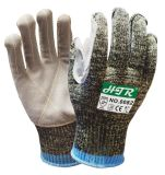 Leather Palm Camouflage Knitted Cut-Resistant Anti-Abrasion Work Gloves