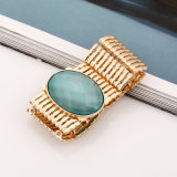 Pulsera azul oval del pun¢o del cordón de Jeweley de la pera para la alineada de boda, accesorios del vestido